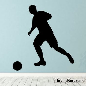 Soccer Wall Decal - Man Futbol Player Sticker #00013