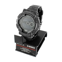 Custom G-Shock Watch Black Simulated Diamonds Iced Out Digital GD100 52 MM Mens