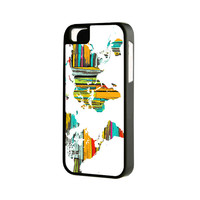 World Map iPhone 6 Plus 6 5S 5 5C 4 Rubber Case