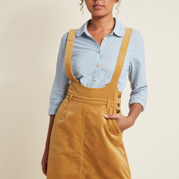 A-Line Corduroy Jumper with Pockets