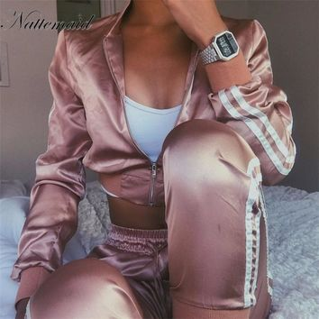 Sexy Two Piece Set Jumpsuit Long Sleeve Winter Bodycon Pantsuit Rompers Top And Pants Overalls