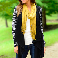 For Your Love Cardigan, Black