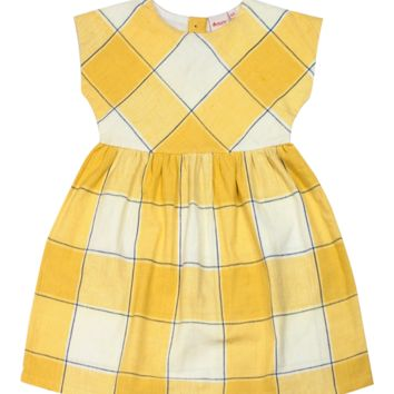 Handwoven Yellow Plaid Cotton Dress
