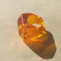 Orange Lucite Vintage Ring 1960's From Serendipity, NYC
