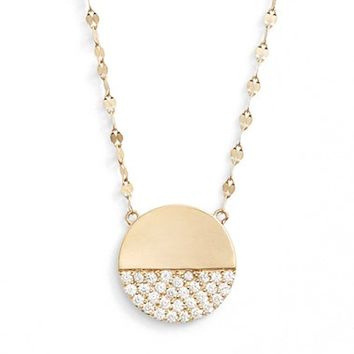 Lana Jewelry 'Elite - Electric Flawless' Diamond Disc Pendant Necklace | Nordstrom