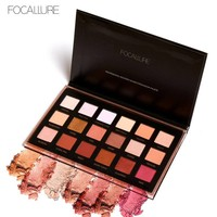 FOCALLURE New Eyeshadow Pallette 18 Colors In 1 Glitter Eye Make Up Professional Nude Eye shadow palette Pigment Naked maquiagem
