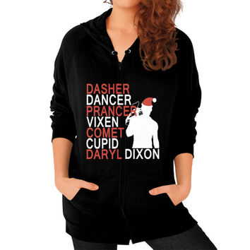 Daryl dixon xmas Zip Hoodie (on woman)