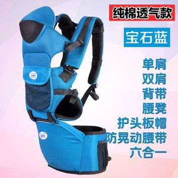 Toddler Backpack class Cheap Cotton Baby Carriers Infant Sling Suspenders Hold Waist Belt Backpack Hipseat Belt Baby Holding Seat Toddler Wrap Rider AT_50_3