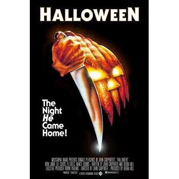 Halloween Movie poster Metal Sign Wall Art 8in x 12in