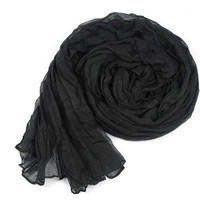 New winter long candy color, black warm shawl do wrinkle upset big scarf