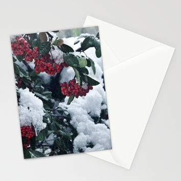 Winter and snow Stationery Cards by VanessaGF | Society6