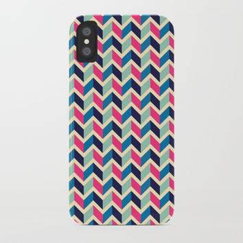Coloured pattern iPhone Case by Printerium