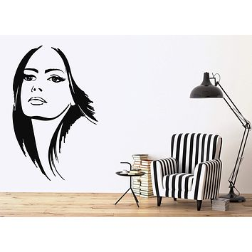 Vinyl Decal Beautiful Woman Beauty Salon Hair Stylist Wall Stickers Unique Gift (ig2133)