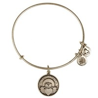 Alex and Ani Claddagh Charm Bangle - Russian Silver