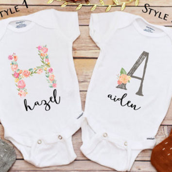 Personalized Baby Gift, Personalized Shirt, Baby Shower Gift, Baby Girl Clothes, Take Home Outfit