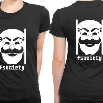 MDIG1GW Mr Robot Fsociety Logo 2 Sided Womens T Shirt