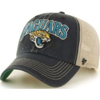 ONETOW NFL Jacksonville Jaguars Tuscaloosa Clean Up Black Adjustable Hat