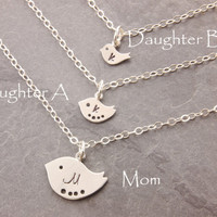 Mom and Daughter Necklace, matching necklace, pair necklace, mother necklace, mother daughter, friendship necklace, sisters necklace, N10