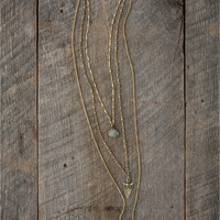 metal horn layered necklace - Lacey Ryan Collection
