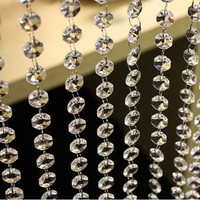 3.3 FT Crystal Clear Acrylic Bead Garland Chandelier Hanging wedding supplies #sclm ltd# [7983476935]