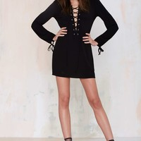 After Party Vintage Tie the Knot Dress - Black
