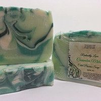 Cucumber Melon Cold Process Soap, Vegan! Homemade!
