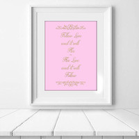 Love Quote, Pink and Gold Typography Instant Download, Romantic Engagement, Wedding, Valentine