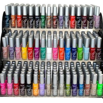 Emori (TM) All About Nail 50 Piece Color Nail Lacquer (Nail Art Brush Style) Combo Set + 3 Sets of