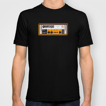 Retro Orange guitar electric amp amplifier Tee T-shirt by Three