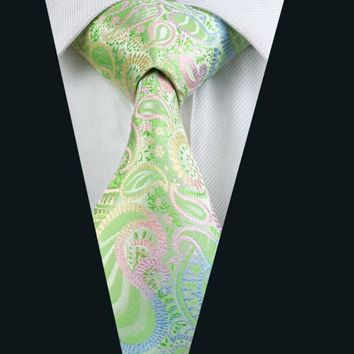 2016 New Men`s Tie 100% Silk Paisley Jacquard Woven Necktie Gravata For Men Formal Wedding Party Business Free Postage LD-645