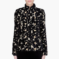 Alice + Olivia Black Embroidered Cecilt Military Jacket for women | SSENSE