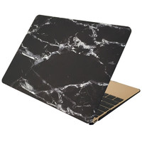 Marble Case for MACBOOK AIR & MACBOOK PRO (Black & Silver Marble)