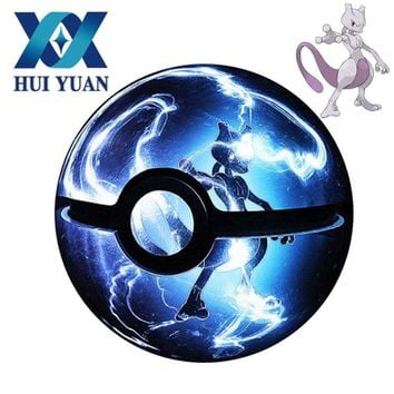 HUI YUAN  Crystal Pokeball Poke Ball 3D LED Night Light Desk Table Lamp USB AA Battery Powered Crystal DecorationsKawaii Pokemon go  AT_89_9