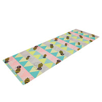 "Louise Machado ""Little Bee"" Pastel Chevron Yoga Mat"