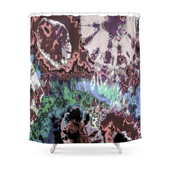 Society6 LIFE ERUPTING Shower Curtain