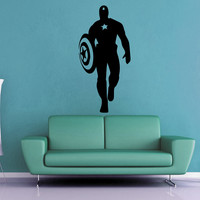 Captain America Silhouette Wall Decal - No 3
