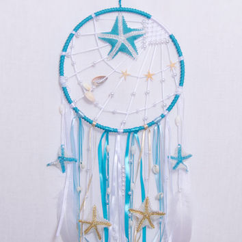 Blue dream catcher, Large dreamcatcher, dreamcatchers, boho dreamcatcher, Heavenly dream, Blue, wooden beads, feathers