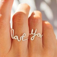 Love You Statement Ring Set
