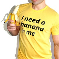 Banana In Me Tee- Yellow