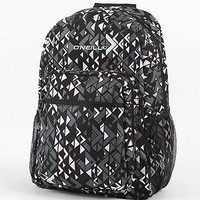 O'Neill Womens Backpack - Black and Pink Geometric Shapes