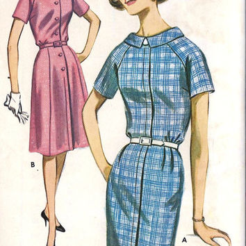 1960s Misses Roll Collar Dress Vintage Sewing by MissBettysAttic