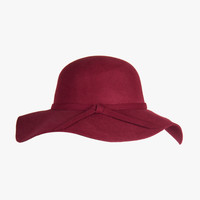 Wool Floppy Hat - Wine