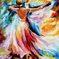 "Waltz — PALETTE KNIFE Figure Oil Painting On Canvas By Leonid Afremov - Size: 24"" x 30"" from afremov art"