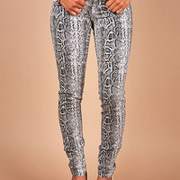 Croc Ambush Skinnys - Animal Skin Denim at Pinkice.com