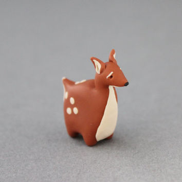 fawn figurine polymer clay fawn miniature baby deer totem