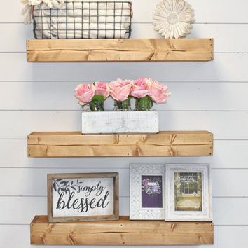 Floating Shelf, Floating Shelves, Wall Shelf, Farmhouse Decor
