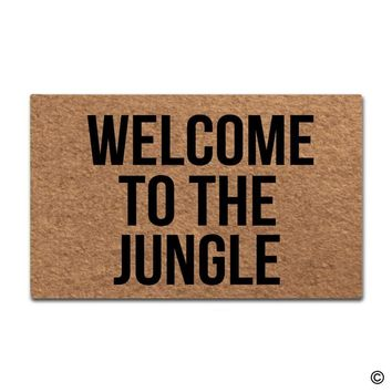 Door Mat Entrance Floor Mat Welcome To The Jungle Designed Funny Indoor Outdoor Doormat