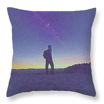 The Milky Way, The Blood Moon And The Explorer By Adam Asar 7 - Throw Pillow