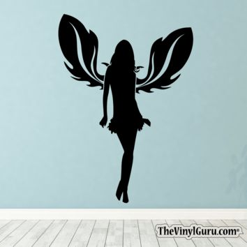 Sexy Angel Pin-Up Girl Wall Decal XIII