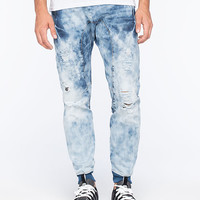Uncle Ralph Destroyed Denim Mens Jogger Pants Light Indigo  In Sizes